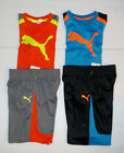 Puma Boys 2 Piece Shorts Outfit with T-Shirt 2 Colors to Choose Sizes 2T 3T NWT