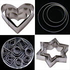Square Heart Patterned Stainless Fondant Cake Cookies Cutter Decorating Mold Set