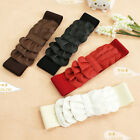 FAUX LEATHER ELASTIC FRILL WAIST BELT GIRDLE BAND 4 COLORS NEW