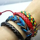 6pcs-24pcs wholesale jewelry mixed  fashion color rope Bracelets free shipping