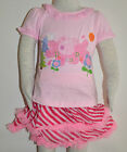New Girls Pep Top and Skirt Set Pink Size 1,2,3,4,5,6