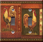 Light Switch Plate Cover - Roosters fowl deco - Animal bird flower bloom design