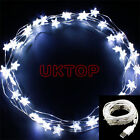 Set of 2 Copper Wire 40LED 4M USB Powered Star Christmas Fairy Lights For PC Mac