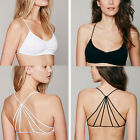 Celebrity Fashion Unique Padded Bra Back Hollow Out Cage Vest Tank Crop Tops New