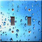 Light Switch Plate Cover - Rain on window - Waterfall drop droplets rainwater
