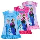 Frozen Princess Elsa Anna Girl Pyjamas Sleepwear Pjs Nightgown Dress Clothes 3-8