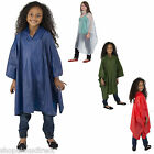 Children Kid Waterproof Rain Poncho Cape Reusable Boy Girl Showerproof HOODED