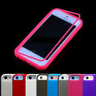 Front & Back Touch Flip Gel TPU + PC Silicone Case Cover F Iphone 4 5 4S 5S 5C