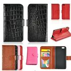Leather Wallet Flip Case Crocodile Skin Style Magnetic Cover For iPhone 6 4.7""