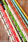 25pc STARS Paper Straws colorful vintage retro style drink straws eco partyware