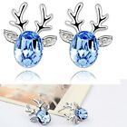Chirstmas Fashion Jewelry Earring Reindeer Artificial Crystal Greeting Lady Gift