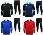 Adidas Sereno Full Mens Zip Tracksuit Jogging Top Bottoms 3 Stripe Size S - XXL