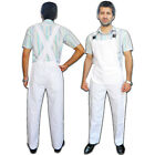 Men's Bib and Brace Dungarees Workwear Engineers Overalls Painters FRONT POUCH