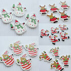 New Cute Santa Christmas Theme Sewing Buttons For Kid's Craft Decoration T0684