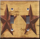 Light Switch Plate Cover - Country burgundy large star - Nation county state
