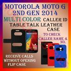 CALLER ID TABLE TALK CASE of MOTOROLA MOTO G 2ND GEN 2014 MOBILE FLIP FULL COVER