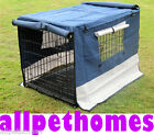 """COLLAPSIBLE DOG CRATE CANVAS COVER 48""""  4-ZIPPER DESIGN"""