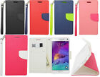 Samsung Galaxy Note 4 Folio Case Pouch Wallet W / Card Slot Phone Cover Hand Strap