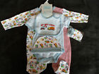 "Baby Boys "" My Big Lorry"" 5 Piece Layette Starter Clothes Gift Set"