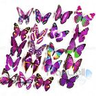 12Pcs 3D Butterfly Wall Decals Removable Sticker Kids Art Nursery Decor Magnets
