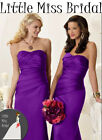 Cadbury Purple Bridesmaid Dress  Ball Party Prom Formal Wedding (FABRIC SAMPLE)