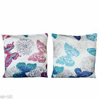 Butterfly Design Cushion Covers 18'' X 18'' -- new