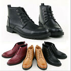Mens Casual Leather Lace Desert Military Hiking Ankle Boots High Top Dress Shoes