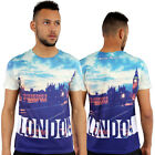 London 3D Print Fitted T-Shirt Urban life By Monkey Business