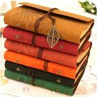 Diary Retro Vintage Style PU Leather Journal Notebook Classic Page Bound A6
