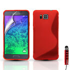 S-LINE SLIM GEL CASE COVER FOR SAMSUNG GALAXY ALPHA SM-G850F & SCREEN PROTECTOR