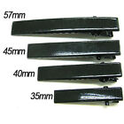 30-100mm multiple sizes Black metal single prong flat alligator hair clip G