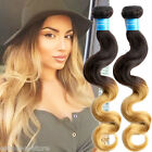 "3Bundles Peruvian Human hair weft 10""-30"" 2 Tone Ombre Body Wave Hair Extension"