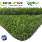 ARTIFICIAL GRASS QUALITY ASTRO REALISTIC NATURAL LAWN TURF 25MM THICK WINDSOR