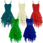 Strappy Prom Short Evening Cocktail Party Layered Bridesmaid Dress Womens Size