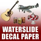 10 Sheets Waterslide Decal Paper,   Choose Laser or Inkjet,  Clear Or White 11x17