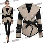 New Fashion Sexy Women Turn-down Collar Large Lapel Belted Jacket Coat Outerwear