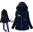 Korea Unisex Women/Men Winter Military Jacket Casual Cotton Thick Hooded Coat