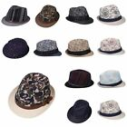 New Men's Women's Kids Boys Girls Fedora Trilby Cap Beach Sun Summer Panama Hat