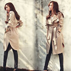 2014 new Casual Trench Coat Girl Loose Jacket Long Outerwear CA HF