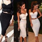 HOT Sexy 2 Piece Bodycon Bandage Cocktail Evening Party Dress Club Wear SH