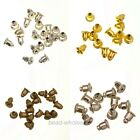 50Pcs Nice  Silver/Gold/Bronze Metal Earplug Bullet Plug Stopper Earring Finding