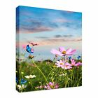 Butterfly Field - Flowers Canvas Art Cheap Wall Print Home Interior 2