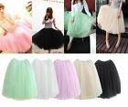 USA Shipping! 2016 Hot Princess Fairy Style Tulle Dress Bouffant Skirt 5 Layers