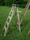 Vintage Wooden 5 Step Ladders for Decorating - Wood Surface or Painted Ladders