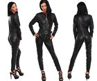 Leather overalls genuine leather catsuit suit 3 way zipper - made to measure