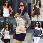 NEW Fashion Women Lady Long Sleeve Crew Neck T-Shirt T Shirt Tops Blouse Tee