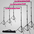 Photo Studio Background Support Backdrop Stand Holder Kit With Free Carry Bag AU