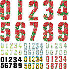 """7"""" Wheelie Bin House Numbers Adhesive Wheely Stickers Sticker Number Sticky Gate"""