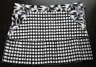 NWT Authentic Young Versace Girl Black & White Pleated Skirt