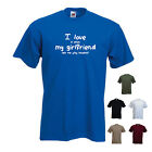 'I LOVE it when MY GIRLFRIEND lets me play baseball' Funny Sport T-shirt Tee